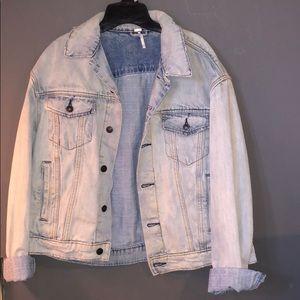 Free People blue jean jacket